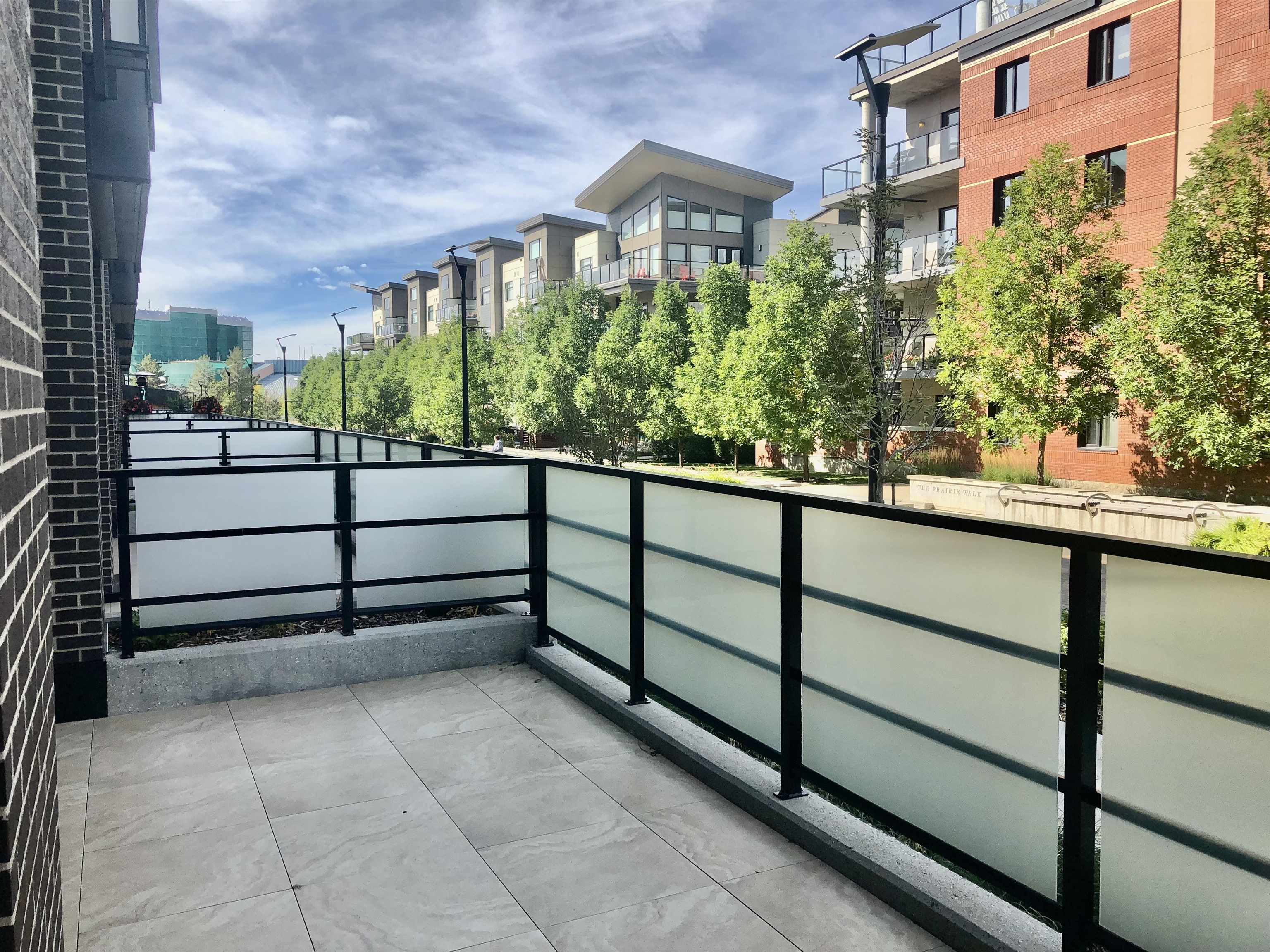 Pleasantly surprised-Savona Sherwood Park.  $367,098 + $18,354.90 GST = $385,452.90. The highest quality condominiums not an airplane flight away. Right here. The heart of Sherwood Park. Live in luxury where you need to be. Suite 124 provides a convenient suite on the park like & well treed Prairie Walkway. A beautiful spot for visits. Raised garden beds. Quick access to retail, cultural and sport facilities. If you live in a house now or have a home office & appointments through the day, then this main floor suite is a perfect choice. Work-Play-Comfort-Convenience. Remember the goals: Value for money, location, close to friends and family, quality builder that backs their product, enjoyable location. Energy efficiency through GEO THERMAL heating & cooling. Your home in the heart of it all in one of Western Canada's most vibrant, feisty & active communities - Sherwood Park, Strathcona County. SAVONA SIMPLY SATISFIES.