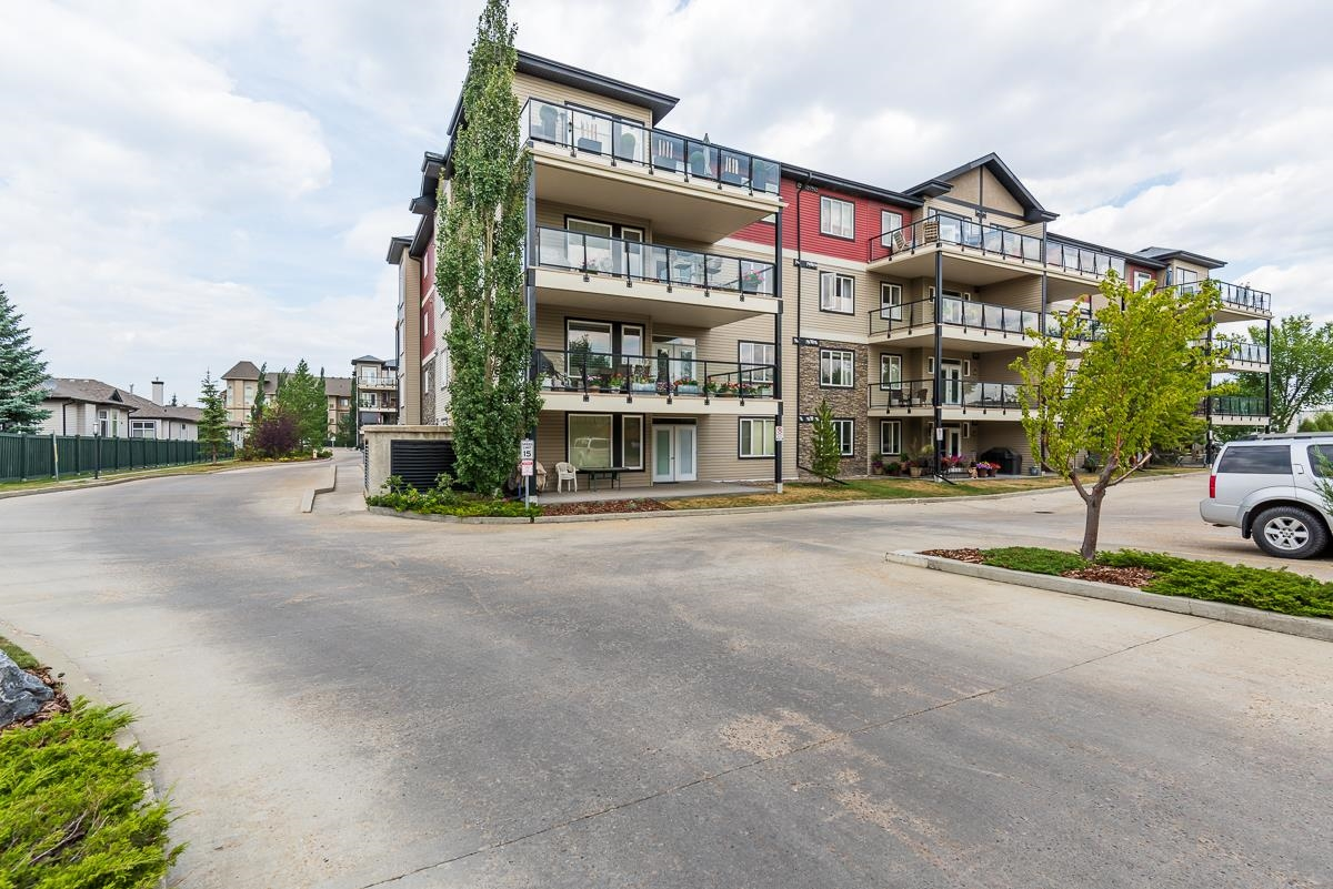 Super well managed and funded!TOP LEVEL FACING WEST! No more hesitation-this 760 sqft one bedroom condo unit has been nicely kept in and out. You will definitely appreciate its lovely open concept floor plan with 9ft ceiling height upon entry. Then you will fall in love with the bedroom and bath when realize how spacious they are. The upgrades include the hardwood/ceramic tile flooring, cornered gas fireplace, real wood cabinets with SS kitchen appliances. Under ground parking. Great location-surrounded by parks and walking trails; close to shoppings, bus terminal and future hospital. 5 min connected to A-Henday and HWY2.  Don?t miss the chance to check out this one of the best 18+ buildings in town-enjoy living there with worry free!