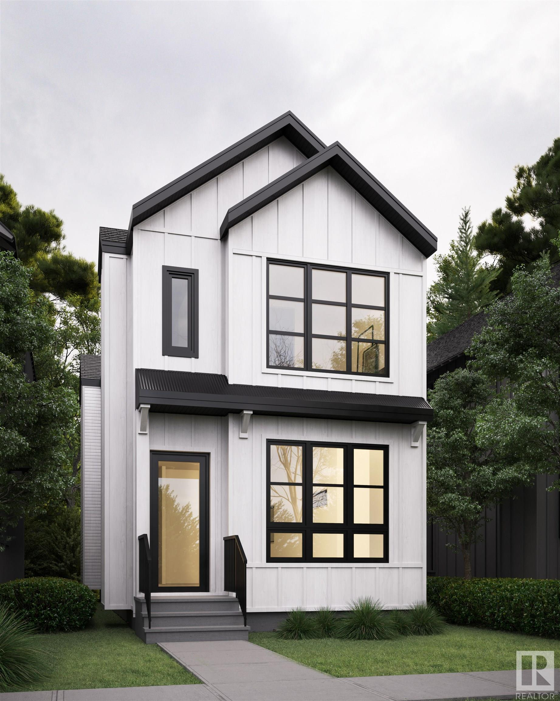 Legal suite & side entrance! Modern, Stunning and Sleek with 10' ceilings. This beautiful home is situated along a matured tree lined street in the community of Idylwylde. Minutes to downtown, & walking distance to the future LRT station, upcoming Bonnie Doon Mall re-development, schools & parks. Attention to detail finishes with many upgrades such as:  railing, 10' ceilings, bar area, huge windows, mudroom, upto ceiling kitchen cabinets loaded with quartz countertops & stainless steel appliances, big island, linear fireplace, hardwood flooring, maintenance free exterior. 2nd floor features 2 beds and a MSTR Bed with a custom closet & gorgeous spa like ensuite, 2nd floor laundry completes the floor plan. Exterior upgrades include big windows, and the house wrapped with premium cladding. Double garage. LEGAL SUITE: with kitchen, 1 bed, full bath, living room and laundry room. Images are from previous home home with similar or better finishes.