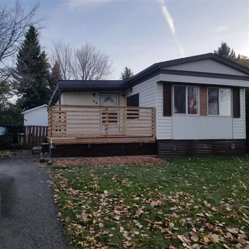 This 2 large sized bedrooms plus den/bedroom addition mobile home has had numerous recent upgrades. Move in ready! In 2019, full paint, new laminate flooring, electrical receptacles upgraded incl. cover plates, upgraded lighting & plumbing, which included pex lines & new taps. Bathroom has a newer vanity, soaker tub & upgraded toilet. A new spacious pressure treated deck was built. In 2017 hot water tank was replaced. There is a newer furnace in this unit. In June 2020 the asphalt roof was replaced. All appliances are incl; fridge, stove, dishwasher, washer/dryer. Front room window coverings incl. Fully fenced yard with apple tree & two larger sheds allow a family/tradesman to have extra space. The park has ample green space park areas, a community hall with numerous allowable events ongoing. School & city bus access is close by. Major shopping only minutes away on 17th Street & Whitemud; where a major city bus terminal is ... access to the rest of the city.  Quick easy access to Whitemud/Anthony Henday!