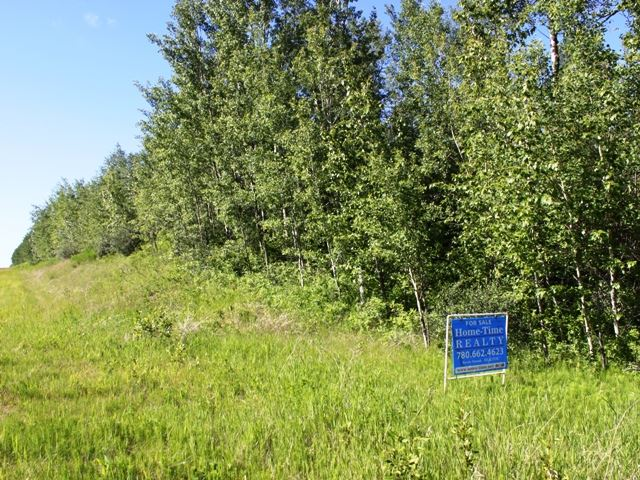 Fantastic location -- paved all the way!  This scenic 38.75 acre parcel of land features loads of trees, rolling land and privacy.  Adjacent to Secondary HWY 630 (Wye Road) which takes you all the way to the U of A OR all the way to Camrose.  Municipal Waterline crosses property providing an opportunity to have good, clean, quality drinking water.   Nature surrounds -- Welcome home!