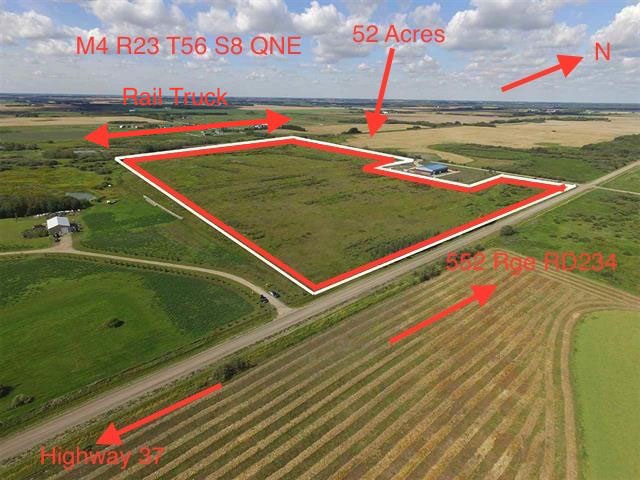 Great piece of land for future development. Permitted uses; bed and breakfast, home based business, temporary dwelling. Discretionary uses; Agricultural Industrial use, gas processing plant, group homes, recreational vehicle ad equipment storage, rodeo grounds.