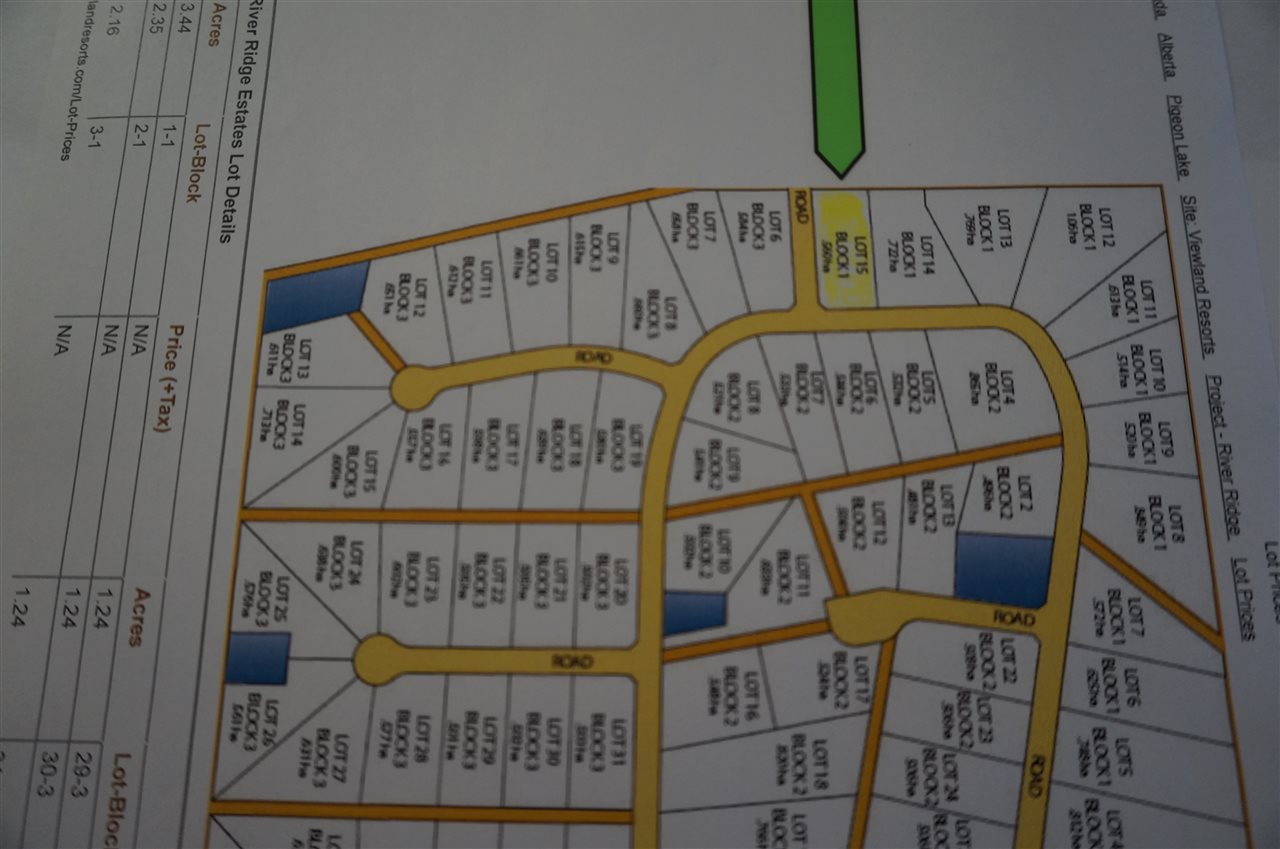 Your dream lot awaits you at River Ridge Estates.  This 1.38+/-  acre lot is close to many amenities such as Pigeon Lake village, and the many golf courses. Located  across from Dorchester Golf Course and only a short drive from your home.  Make this your permanent residence or  a get-a-way resort with your RV.