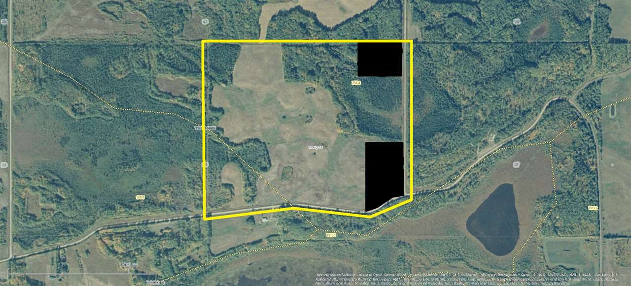 119 acres Agricultural and or recreational land North West of Barrhead in the Tiger Lily Clear Lake area. Approximately 70 acres open currently in hay/ pasture with 49 acres bush. Unique camping spots and plenty of wildlife, 4 miles from Clear Lake campground where you can find additional boating and fishing. GST may be applicable.