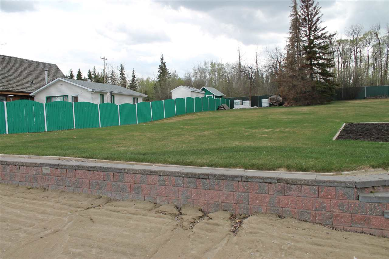 LAKEFRONT LOT in Sandy Beach! One of the nicest lots in the Area w/ Sandy Beach Front and Retaining wall at the edge of the Beach! Perfect Spot to Build your Weekend Get Away on 30mins from Edmonton! Paved Highways to the Property! Approx 50' of Frontage. Lot next door (460 Lakeview) is also for sale.