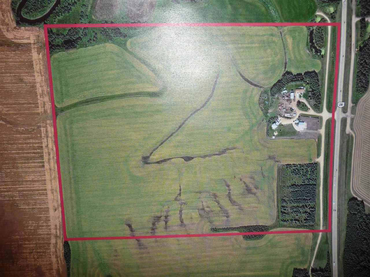 GREAT PIECE OF LAND RIGHT ON HIGHWAY 28 WITH A SERVICE ROAD OFF MAIN HIGHWAY.ONLY 5 1/2 MILES FROM NORTH END CITY LIMITS.IT IS CURRENTLY BEING  FARMED.GST APPLICABLE