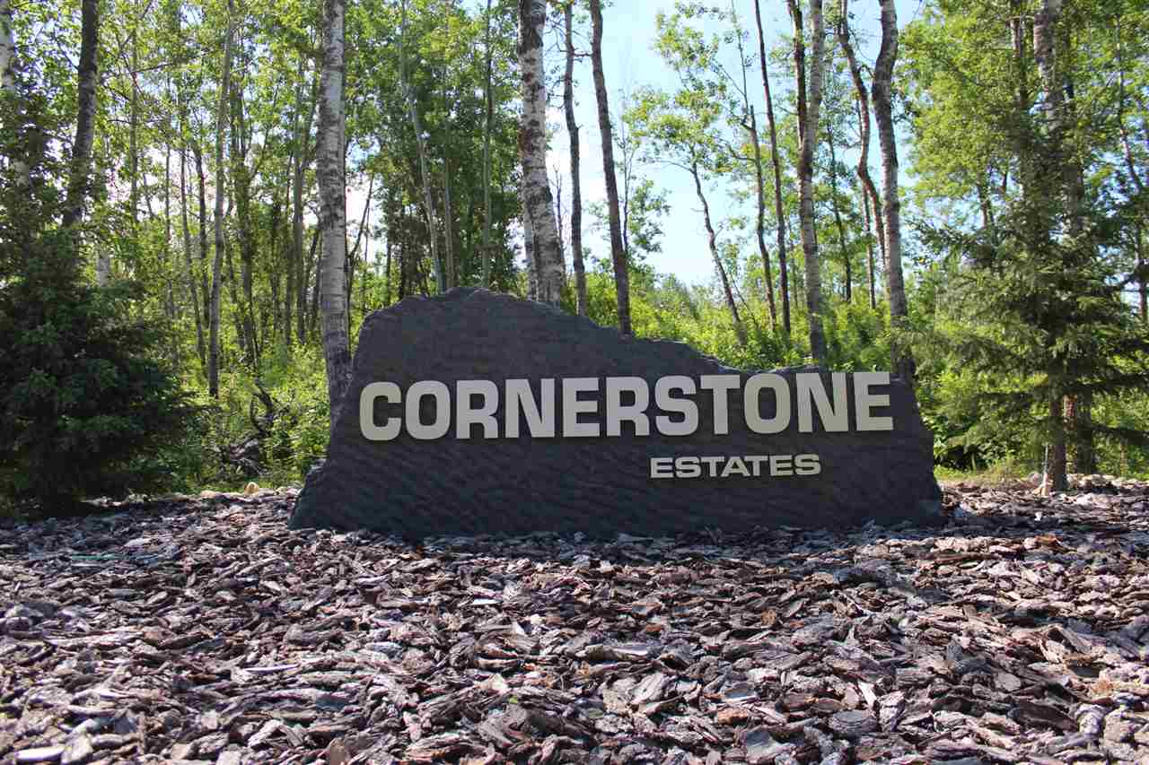 PRIVATE, FULLY TREED, ELEVATED 2.04 ACRES LOT IS ADJACENT TO A RESERVE. IT'S LOCATED IN THE MOST DESIRABLE CUL DE SAC OF THE CORNERSTONE ESTATES. ARCHITECTURAL BUILDING GUIDELINES ARE SET. ONLY 8 MIN TO SPRUCE GROVE.