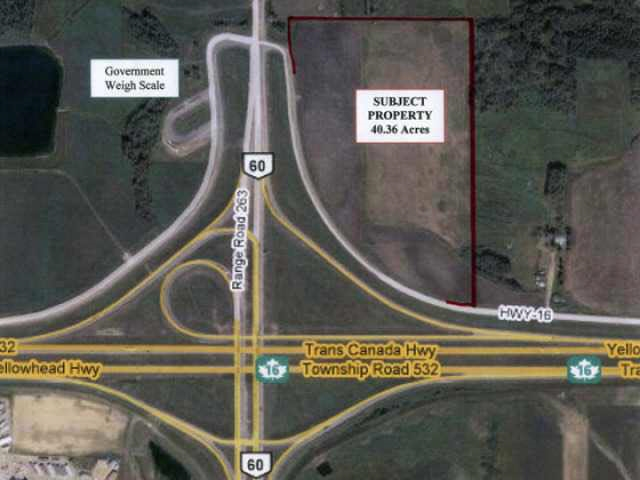 Attention developers! Great piece of development property with city water and sewer at the property line. 40 acres of prime development land, ideal for hotel, gas station, or strip mall. Seller will consider private financing to a qualified buer or buyers.