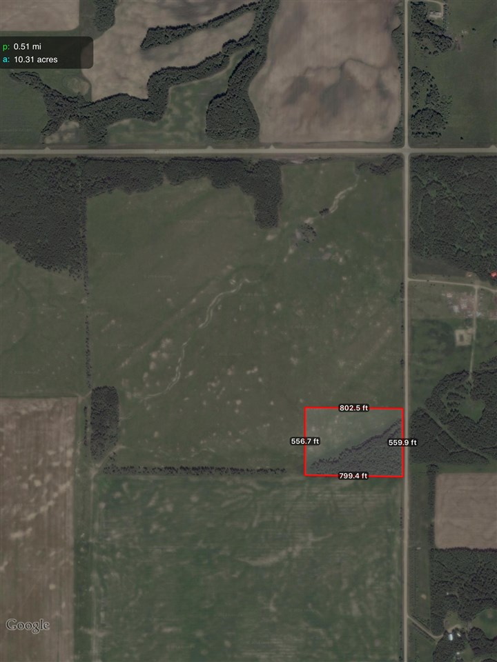 Get ready to build on this splendid 10.3 +/- acre parcel - 1/2 treed, ravine, high land with beauty views. Not in a subdivision.  New approach will be constructed off of RR 14. Private location - No neighbors , 5 min. to Pigeon lake - Mission Beach - public beach. 1/2 mile off pavement, Thorsby school bus route. 35 min. to Leduc, airport. A great footprint to put up a home and garage / shop with room to keep a horse(s). No building restrictions, no timelines to build. Move on a modular, mobile or custom build. Possession date negotiable.  LOT DIMENSIONS: FROM SOUTH EAST CORNER OF LOT - 170M NORTH TO SOUTH, 238M EAST TO WEST