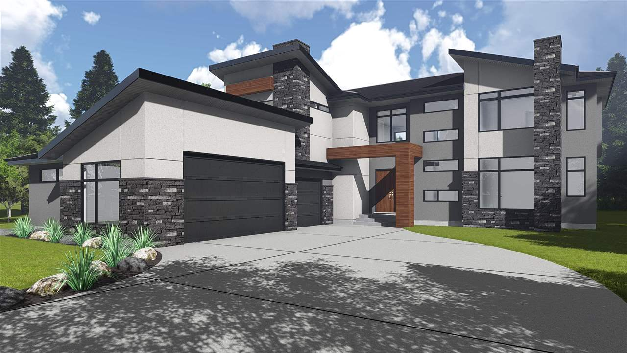 Brand New Home by Wolf Signature Homes  in Park Lane Estates, This elegant Walkout Home boast 3472 SQFT of living space on top 2 floors. The modern/ rustic home is full of luxury feature such as wood floors/tile/carpet, high end lighting and plumbing fixtures throughout, ceilings are 10 ft main,9 ft 2nd and true 9 ft basement for future development, massive  triple car garage that is 40 ft x 30 ft. The open interior design is set for large family living. The home offers large elegant kitchen next to a large dining area, a great room with 19 ft ceiling,  gas fireplace is perfect for large groups, large bedroom suite w bath,  flex room for your choice of space on the main floor. Upstairs showcases large master suite with stunning  balcony views of the trees & pond, master ensuite is spa inspired with large WIC, 2 additional bedrooms with J & J ensuite & WIC, bonus room, and laundry room.  There are too many more elegant features in this home that must be seen to appreciate.