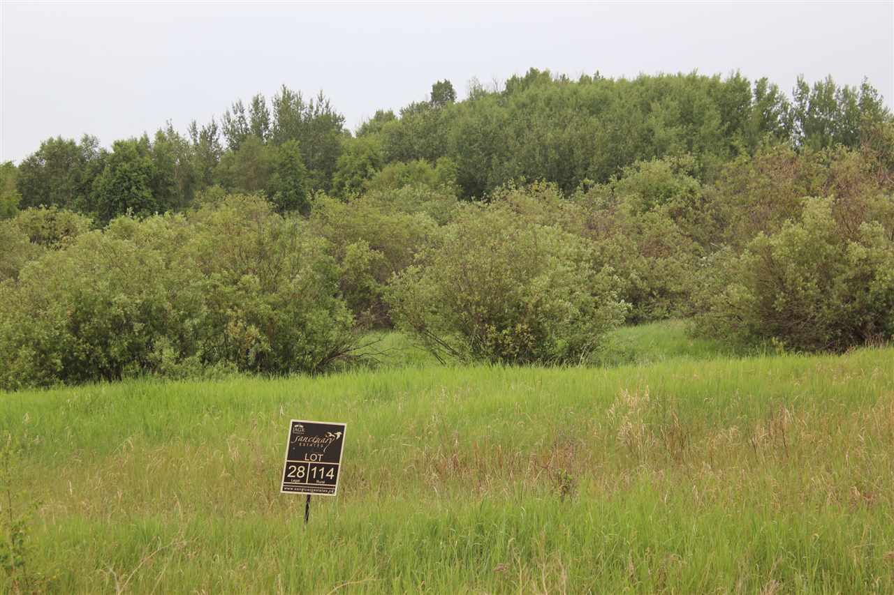 Attention Nature Lovers! Great 3.24 acres lot with some trees at the back. Sanctuary Estates is a residential community North of  Miquelon Lake located a short 20 minute drive East of Edmonton, beside the Ministik Lake Bird Sanctuary. This community showcases the beauty of nature and surrounds you with the comforts of home. By a pristine area that encompasses thousands of acres of land, lakes, miles of hiking trails and wildlife.