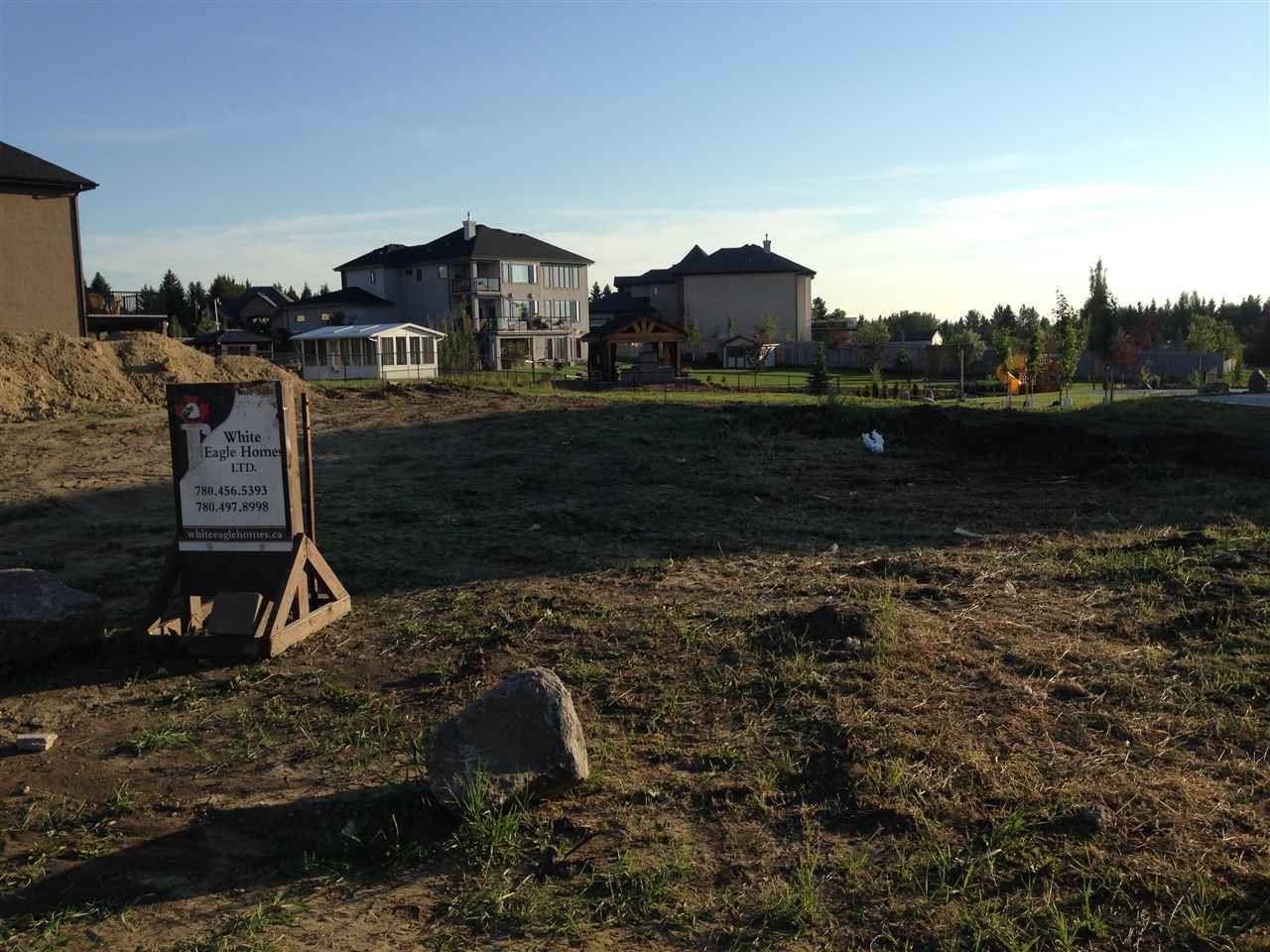 Located in Tuscany Hills Sturgeon County, this community combines estate living, country charm along with the sophistication and convince of city life. The lot is nearly half acre walkout lot and nearby pond/park walking area. The lot offers tons of space for multiple car garage and still plenty of room left for fun entertainment in the backyard. The location is close o Edmonton, but far from high volume traffic and loud city noise. Enjoy a hybrid of county and city living in Tuscany Hills. This lot is ready to be the location of your new home. Architectural Control and Landscaping deposit required.