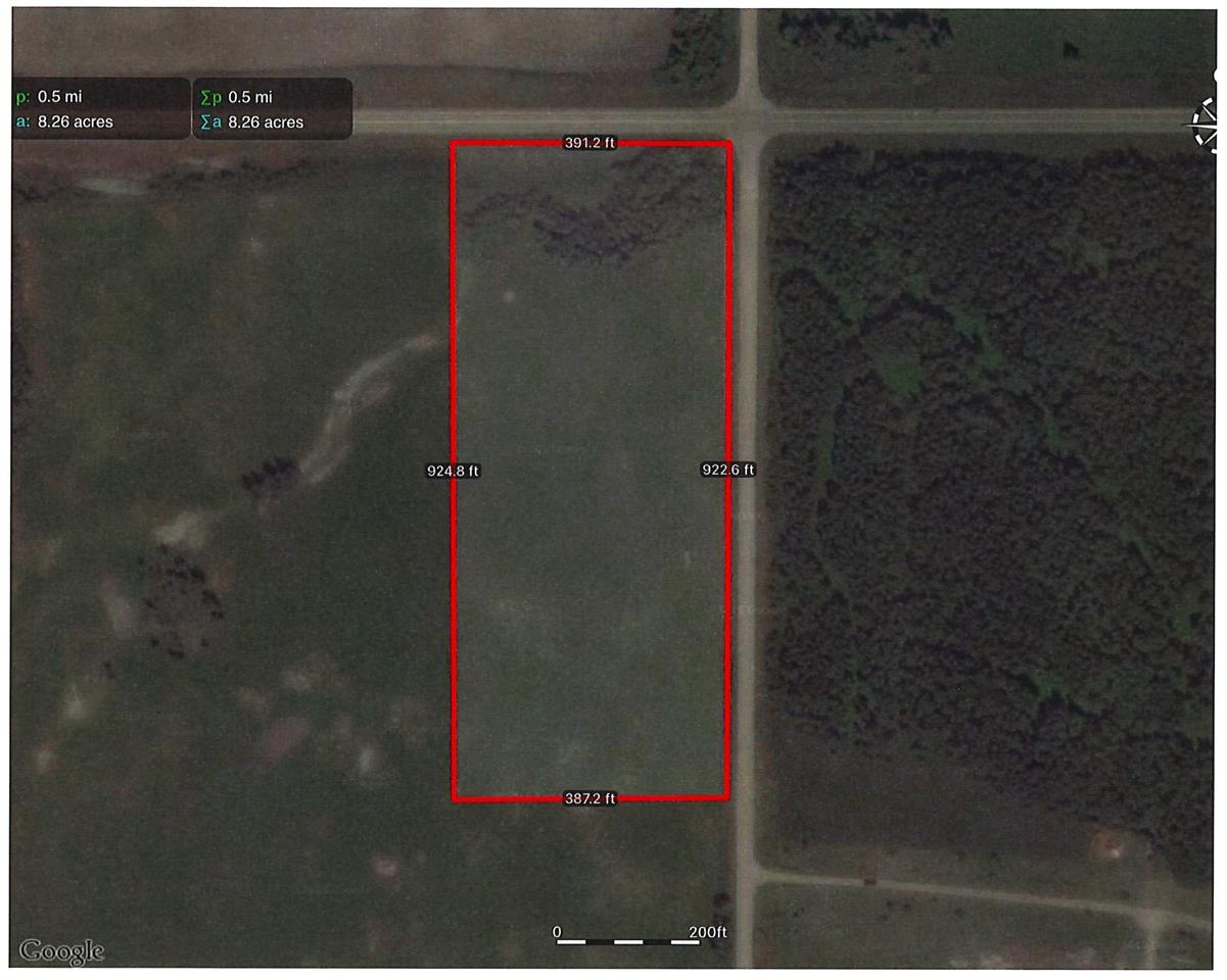 10.2 ACRES +/- ADJACENT TO PAVEMENT - 3 ACRES TREED WITH RAVINE. DRILLED WATER WELL ON SITE, GREAT BUILDING SITE, NEW APPROACH WILL BE PUT IN OFF OF RR 14. NO TIMELINES TO BUILD AND NO BUILDING RESTRICTIONS - MOVE IN A MOBILE OR A PRE-EXISTING HOME, OR BUILD.  QUICK POSSESSION - SCHOOL BUS ROUTE TO THORSBY. 2 MILES FROM MA-ME-O BEACH - PIGEON LAKE - BOAT LAUNCH, PUBLIC BEACH. 5 MINUTES TO MULHURST - GOLF, BEACH, BOAT LAUNCH. POSSESSION DATE NEGOTIABLE.