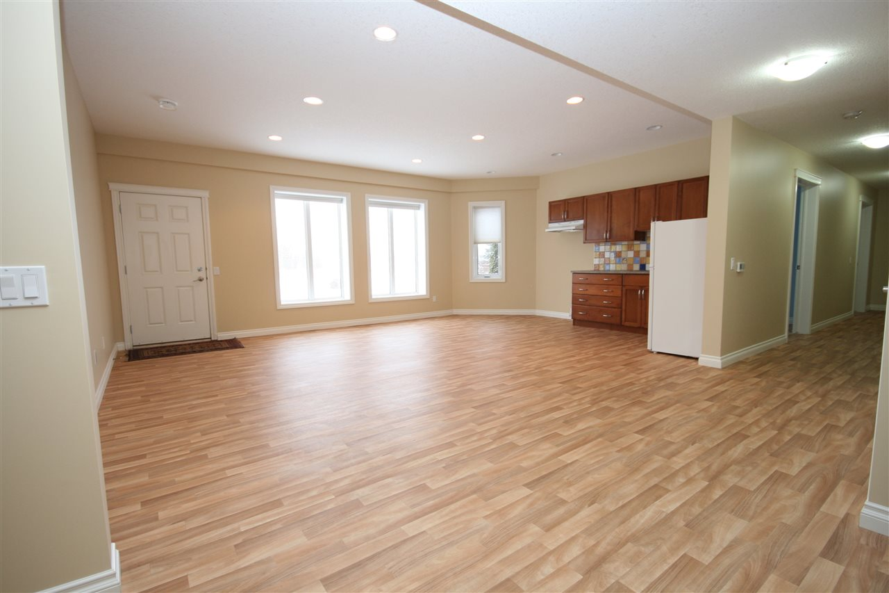 The basement is equipped for an optional independent living suite.
