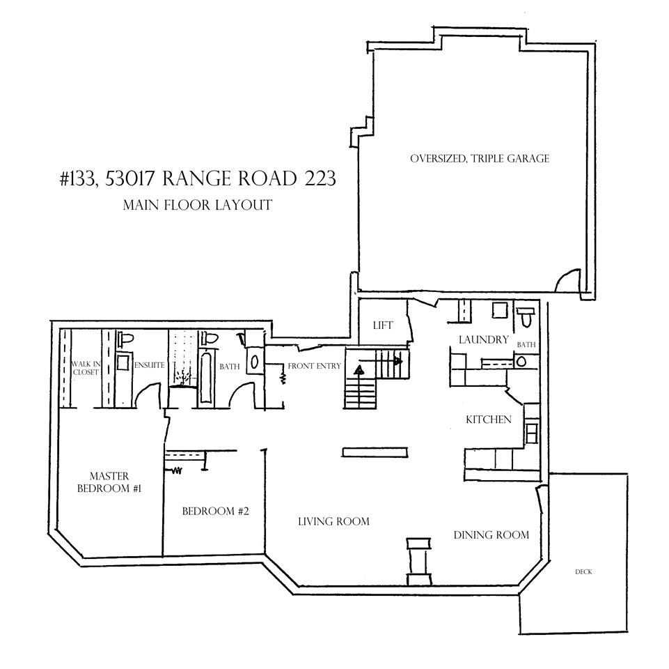 Main floor layout.