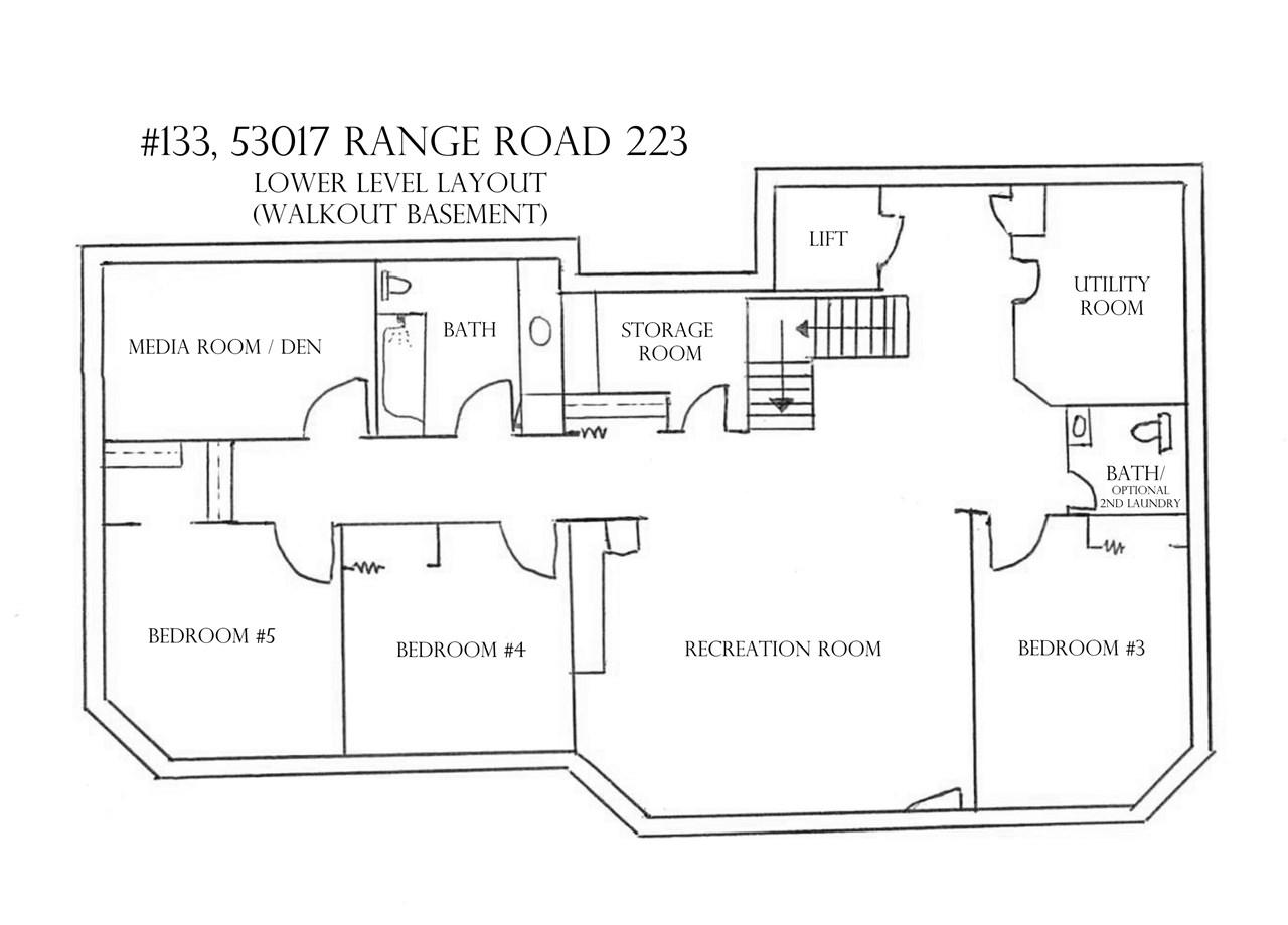 Basement level layout.