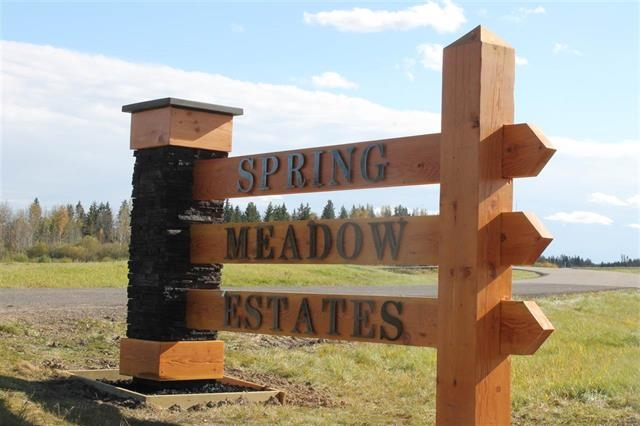 Welcome to SPRING MEADOWS ESTATES located only 10 minutes west of Edmonton & east of Spruce Grove.   COUNTRY LIVING AT ITS BEST!!  City Water & Sewer,  High Speed Internet  - you have it all.   Lot 6 is .96 of an ACRE - slight pie shaped lot.   Price Includes GST. OVER 30% SOLD.   Variety of lots to still choose from:   walkouts, flat lots, & even lots backing on to Natural Reserve.    IT IS SIMPLY YOUR CHOICE!   Choose a lot that fits the home you want to build!   Developer FINANCING PKGES available.  Get in the Special Discounts available for a limited time only!!  Walking distance to Edmonton Springs and Deer Meadows Golf Courses.   Located just east of Lois Hole Centennial Provincial Park and Big Lake.   Great access to HWY 16, the Anthony Henday, and Highway 60.