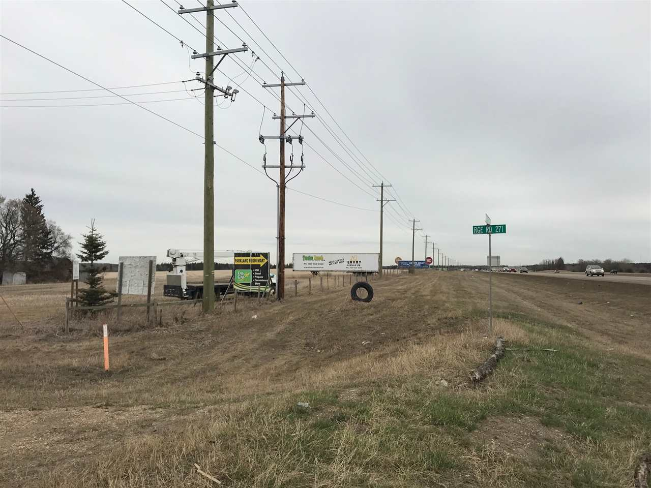 101 cres land right on Yellowhead Highway - Future commercial zone. Utilities on the back of the property.
