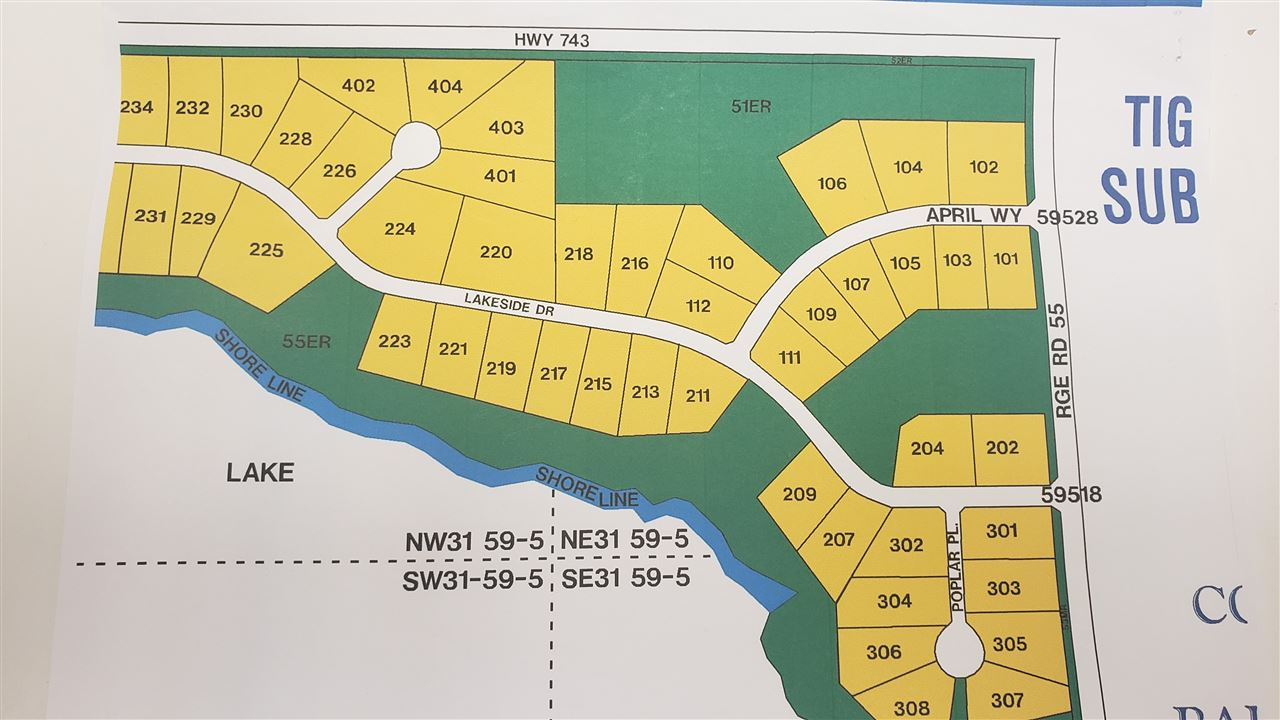 Imagine living so close to a provincial park that has a beach, boating, fishing and so much more! Now is the time to have your own land near the lakes.  TIGER LAKE ESTATES 3.16 acres within the subdivision is only 15 miles of pavement North West of Barrhead. Good spot to build your new home now or in the future and an opportunity to have a home with a walkout basement. Open space with a few trees on the border. Power and gas are available at the property line. The opportunity is now yours!