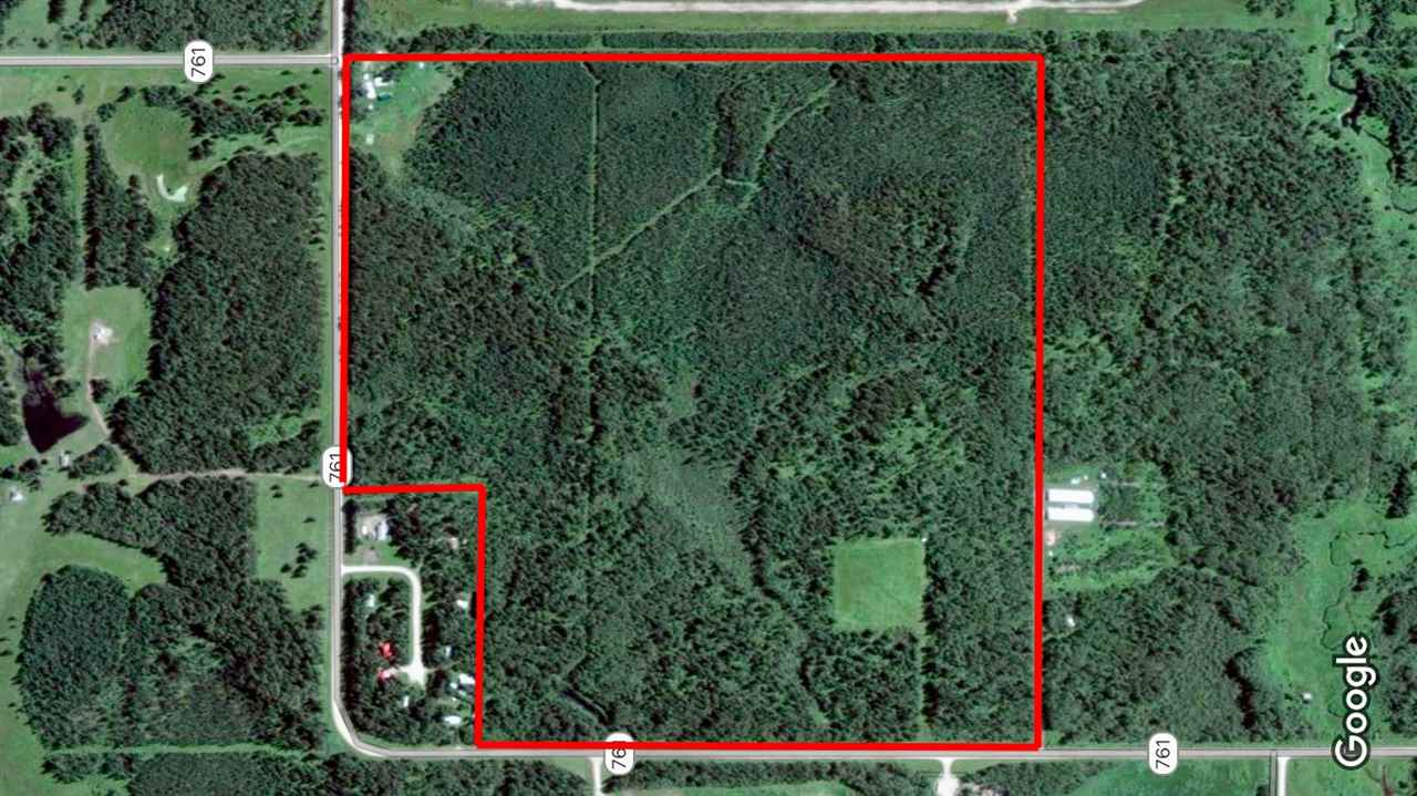 Enjoy the peace and quiet of this beautiful 145 acre property. Buck lake is just across the road and only 35 minutes to Drayton Valley this private oasis is waiting for you. Mostly treed, with multiple amazing build sites, this could be a great place for your dream home or just to enjoy the wildlife, maybe you've always wanted to build your own campground, the possibilities are abundant! Approximately 24'x60' pole shed has been started, roof trusses, floor insulation and in-floor heat tubing is there ready to be completed. 2 sea cans, 2 portable shed/garages and 3 outbuilding/cabins included with the property.