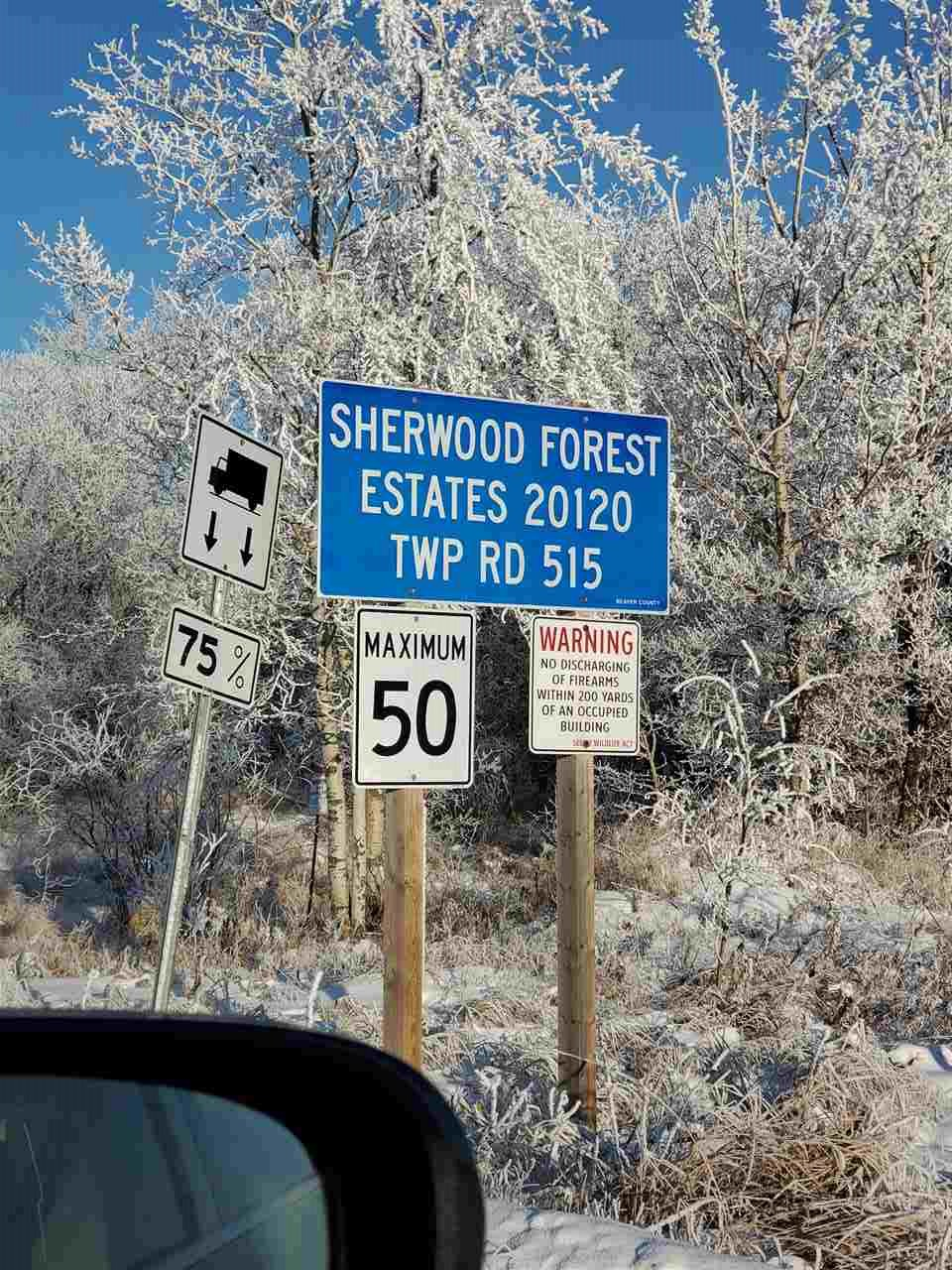 1.550 acres, great opportunity to build your home in the lovely rural community of Sherwood Forest Estates! Under 30 minutes to Sherwood Park. Lot backs onto lake.