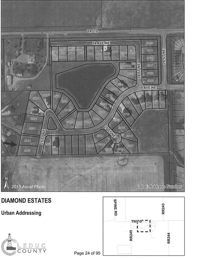Prime West facing Walkout lot in Diamond Estates . Prime .53 of an acre lot with FULL municipal services including City water, City Sewer, gas, power and high speed internet in an Amazing subdivision where you can bring your own builder. Huge Pocket 79' pocket surrounded by high end custom homes in a prime location minutes to Beaumont, Edmonton, Nisku and Leduc. Located in the East Vistas ASP.