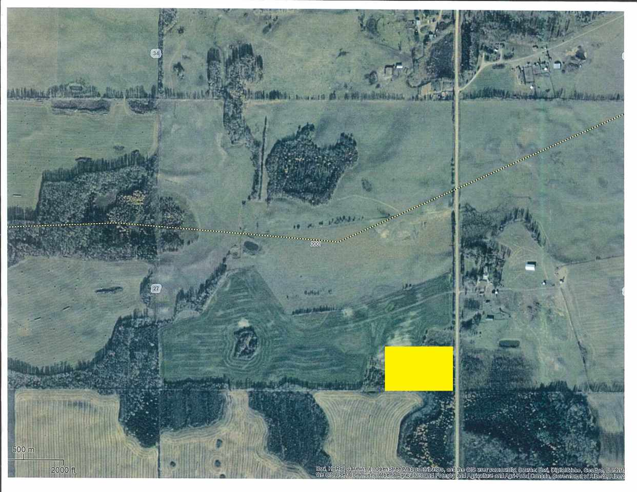 153 Acre Farm 3 miles West & 1/2 mile North of Barrhead. 133 acres currently open. (Roughly 103 acres cultivated & 30 acres central pasture/ grass hay). Farm has been rotated between seed grains, forage hays & pastures over past 30 years. Good high building site if desired as well as replenish-able dugout water source from Groundwater runoffs.