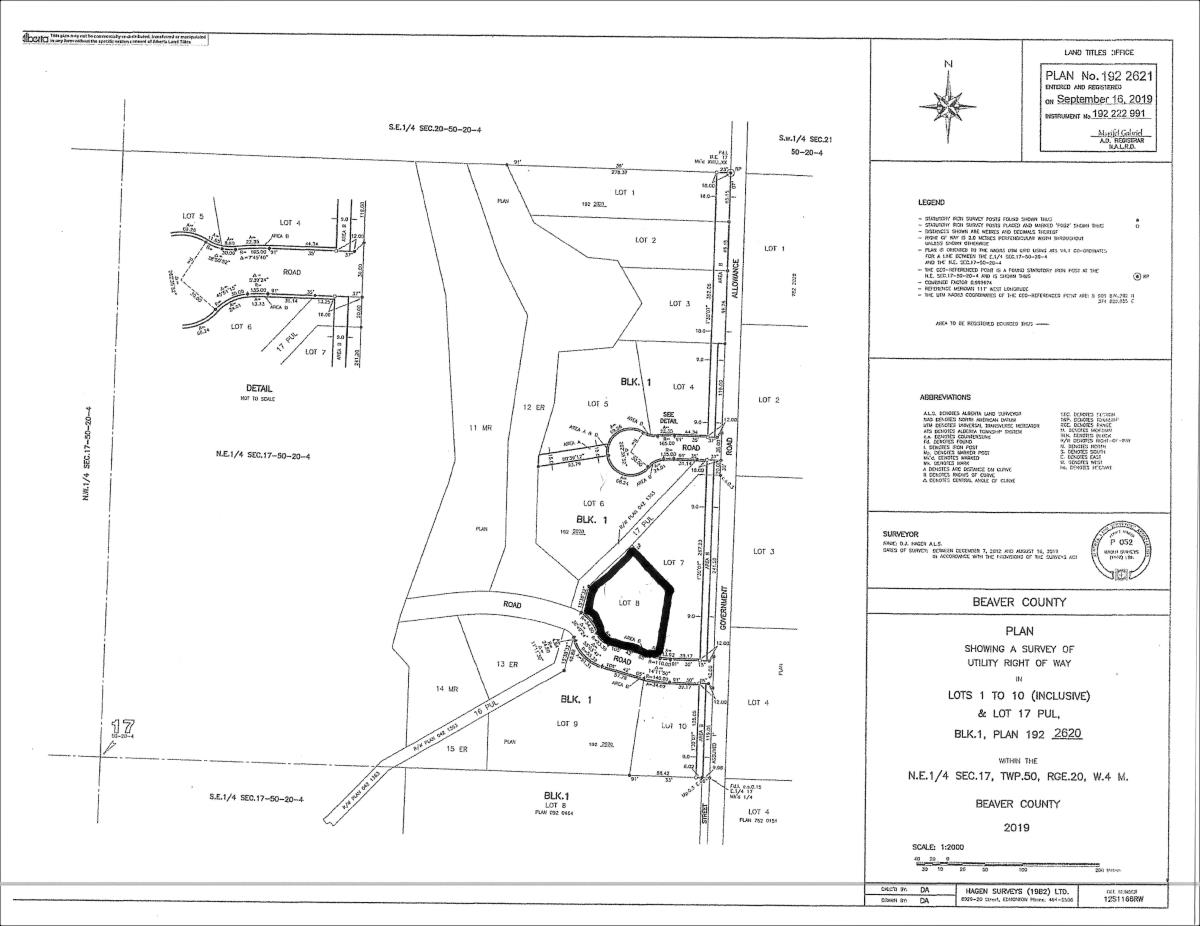 2.89 acre lot in LAFAYETTE ESTATES, Beaver County's newest subdivision! Treed parcel with power, gas, and telephone at the property line. 30 minutes away from Edmonton, Sherwood Park, and Camrose. A must see !!!