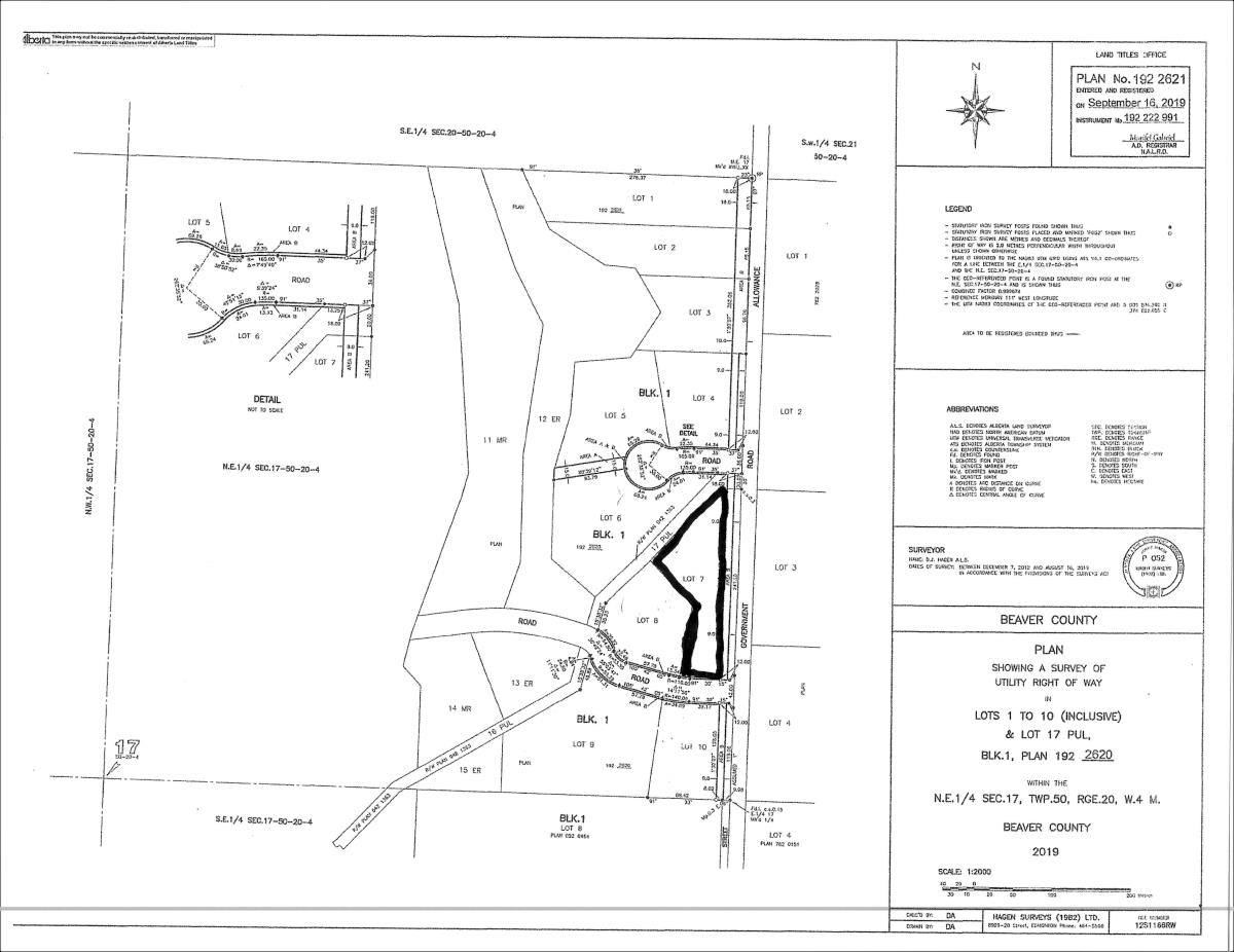 Beaver County newest subdivision, LAFAYETTE ESTATES! Just 30 minutes away from Edmonton, Sherwood Park, and Camrose. 4.4 acres of trees and privacy! Power, gas, and telephone at the property line. Drilled wells allowed in subdivision. A must see!!!