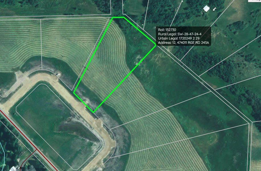 GREAT LOCATION! BACKING TREES! This beautiful 2.52 acre parcel is ready for development, with power and gas to the property line. Build your custom home, protected with restrictive covenants in place to ensure quality standards in the community. Only a short drive to Leduc, Wetaskiwin, Edmonton, and EIA! GST included in listing price. Call J Bar V Estates home today!