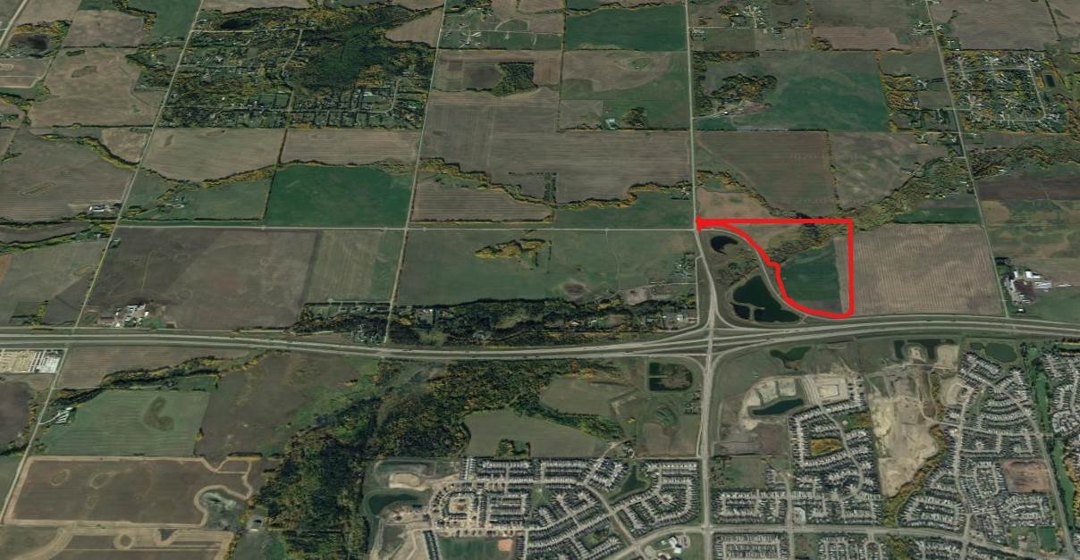 Location, Location, Location. Highway frontage land with all of the proper access available. This 75 + acre site is located North of the Yellowhead Highway across from Spruce Grove right off of Jennifer Heil Way. This property could be subdivided and the possibilities are endless. Show and Sell with Confidence.