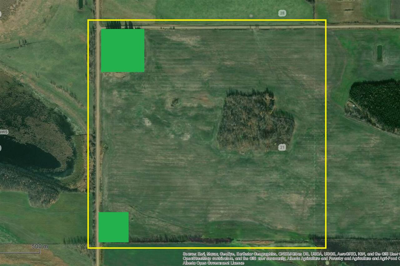 Productive quarter section located in the Mosside area 12 miles SW of Barrhead. 137 acres cultivated with balance of 14 acres bush. (Purchase Option of 3 acre yard site availability for additional $150,000 w/ very good 2006 1216 sq ft Home and services including brand new engineered septic field) Creating an excellent homestead and or investment return on land rent and acreage lease