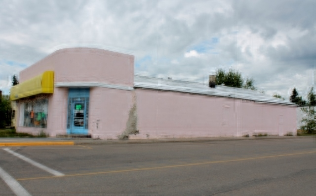 Commercial building on two lots in downtown Elk Point. This property is located at the intersection of 50th Ave and 50 St. The lots are 78.2' X 150'.