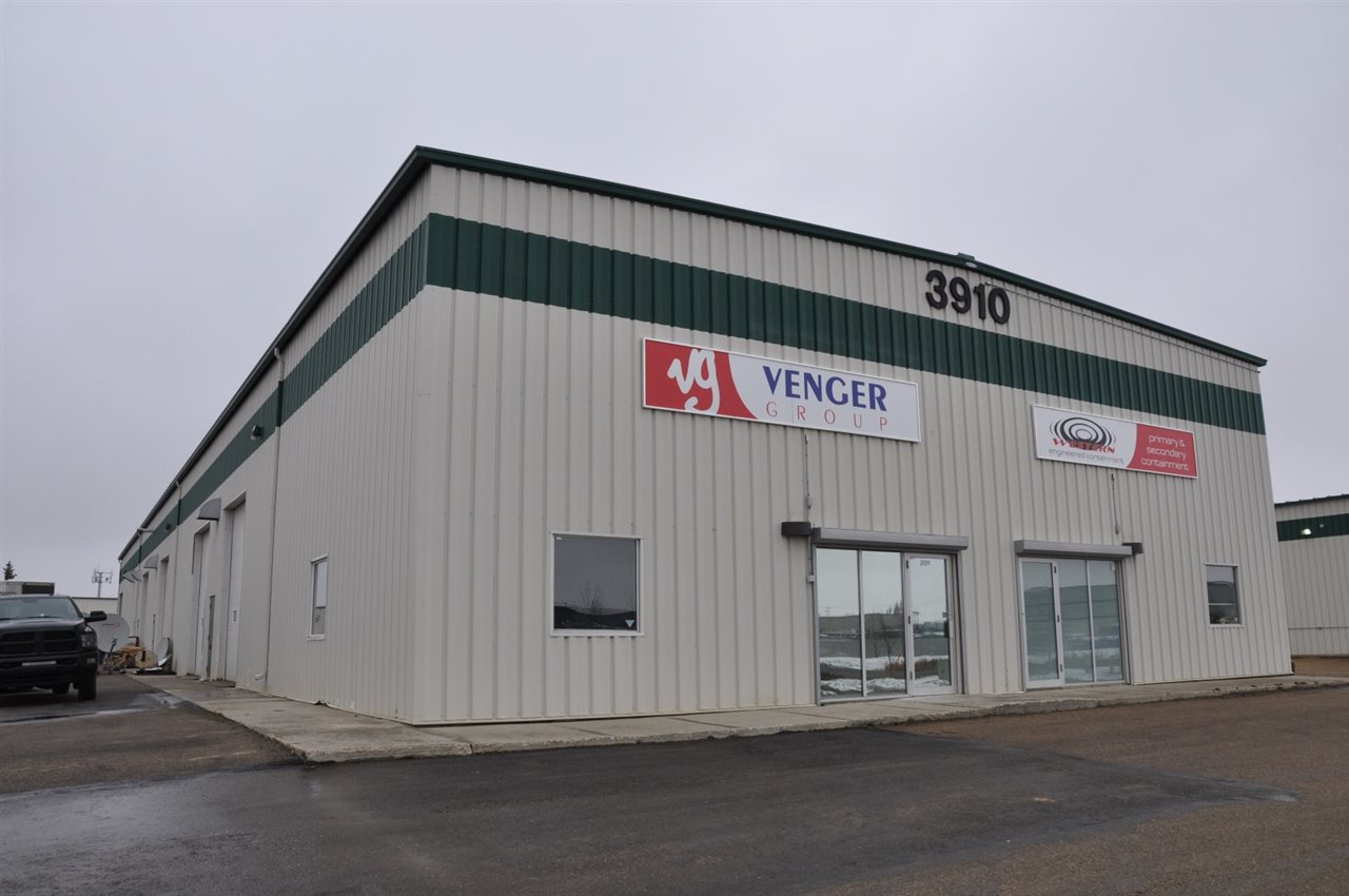 2,500 sq/ft for lease at 3910 84 Av in the Leduc Business Park just off of Airport Road. $9.50 sq/ft + $3.25 Op Cost, 3 lease term or longer is negotiable. Two bay doors, power enough for large welders, scissor lift, bathroom, paved parking area and inside floor drain are features provided with this unit.