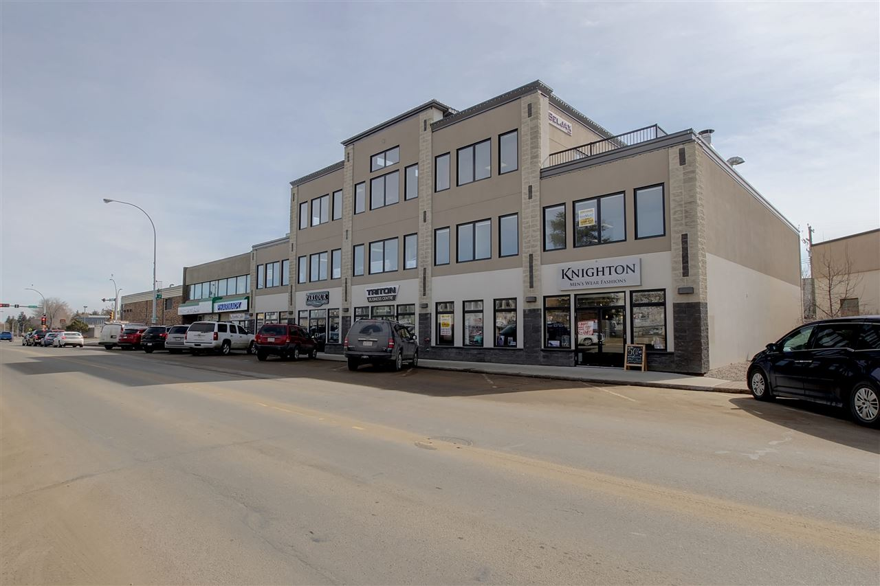 """Boutique """"Opportunity"""" Retail space. Ideal main floor retail space with rear loading door. Full front window exposure. Separate HVAC - underground and surface parking. Tenant allowance available. New Shell space. Ready for your retail business - Downtown Spruce Grove. Triton Office Building."""