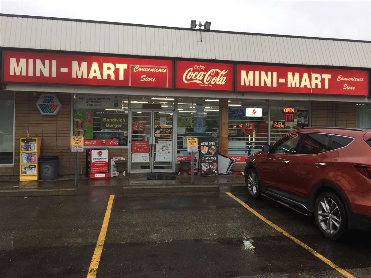Large scale family operated mini-mart convenience store located in west boro community in Sherwood Park. The store has high exposure to 2 nearby schools (elementary & secondary school) and surrounded by residential area. Selling smokes, pop, grocery, ice cream, candy, slush, lotto & Radio Bingo lottery. Recently with ATM service the owner added Money Gram Service. This convenience store has a BIG parking lot. Lots of potential to expand the business from current annual sales of $860K. Total 2000 sq ft area including common area with very low rent of $3332/month. Current remaining lease is 3 years with additional 5 year renew option. Store hours Monday - Friday 8:00am to 8:00pm, Saturday & Sunday 9:00am to 7:00pm. Don't miss this golden opportunity for owning your own business.