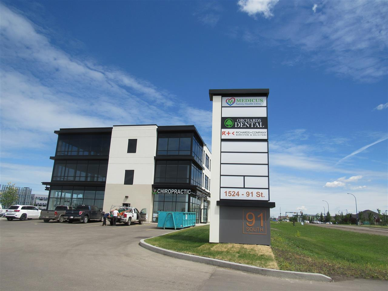 Newly built 827 sq ft office space located along 91 st at the vibrant South Henday business district. This unit located on the 3/ F of a 3 storey office condo complex with various businesses set up including medical & health related clinic, pharmacy, legal, financial & accounting offices. Conveniently located with easy access to QE II Highway, Gateway Blvd, and Anthony Henday Freeway. Unit facing east with lots of sunlight. Ample parking spaces. Excellent opportunity to start your business.