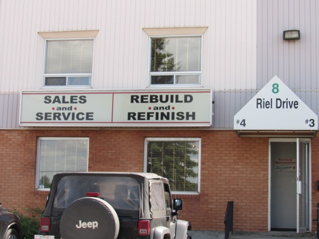 2300 sq.ft. bay - Front retail/office/showroom with warehouse & mezzanine above office.  Riel Drive has great access to Anthony Henday at 199 Street