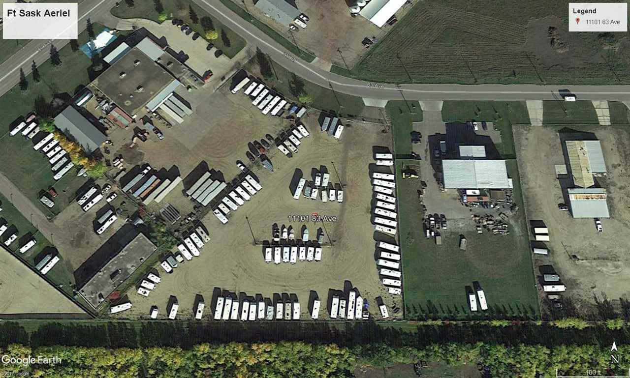 Located in Fort Saskatchewan's East Gate Business park you will find this great property that is ready for you to build your business. This property is currently used as an RV and outdoor storage facility, fully fenced with security gate, cameras plus small work trailer. The business is successful and requires very little of your hands on time, great passive income generator. This is a solid holding property for a future build as the income will offset carrying costs. Easy access to all major roads in Ft Saskatchewan with close proximity to the refineries. The current configuration gives you 122 rental stalls.