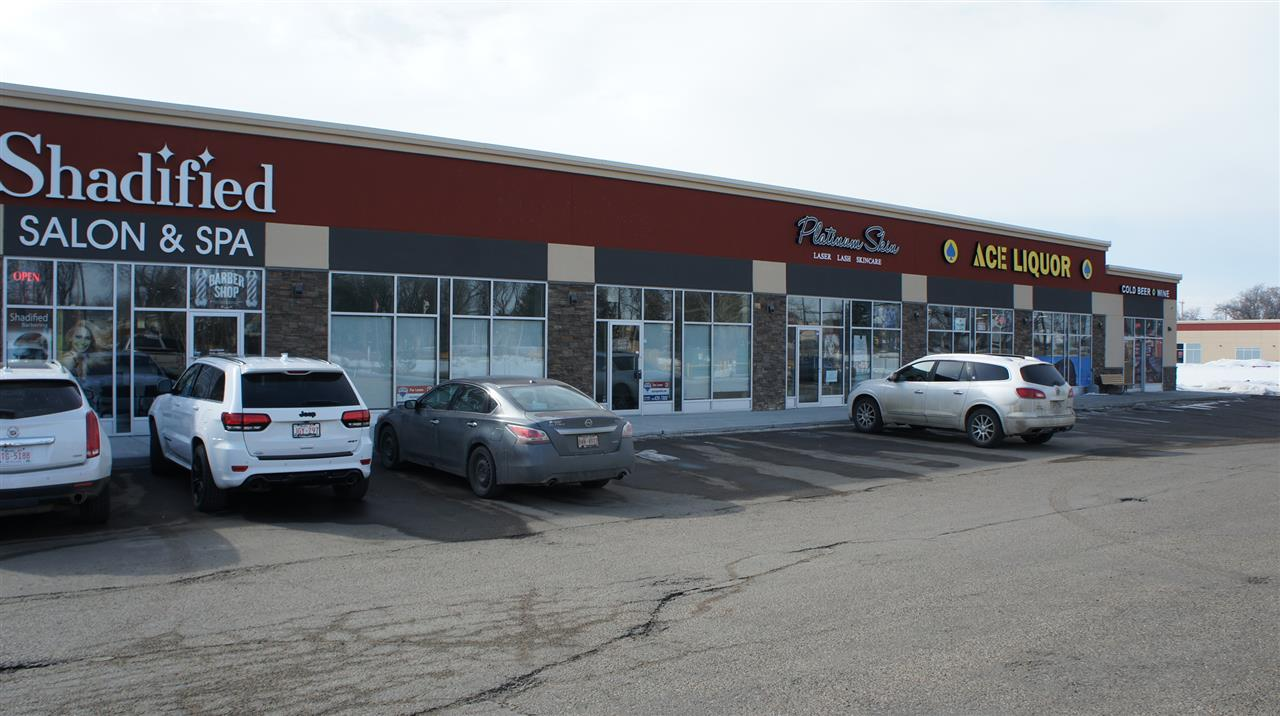 For Sale or Lease.  Fully improved retail bay in Fort Station in downtown Fort Saskatchewan with top quality materials that can easily be incorporated for another use.  Owner willing to cooperate in reconfiguration for a quality tenant.  Originally developed as a high end hot yoga studio with two large studios, men's and ladies washrooms complete with shower facilities, open reception area, small office and separate handicap washroom.