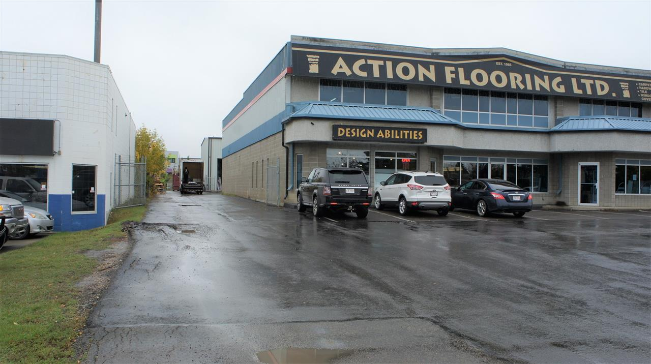 Attention Business owners/Investors!  High Exposure, double bay Industrial Business condo on 50 Street offering 6295 of very attractive open showroom space with a nice mix of administration office on the main and second floors. 4585 sf on main and 1710 sf on second floor.  20'5'' ceiling heights in open areas.  Load bearing mezzanine storage and a small warehouse component at the rear with a 12' grade loading door and the ability to recommission another 12' grade door.  Additional warehouse storage space available on site if required that can be purchased or leased.  A total of 4 showcase industrial condos and 3 individual warehouse storage bays available in this project either for sale or lease. Condo Fees are $1589.49/mo for these two combined units.