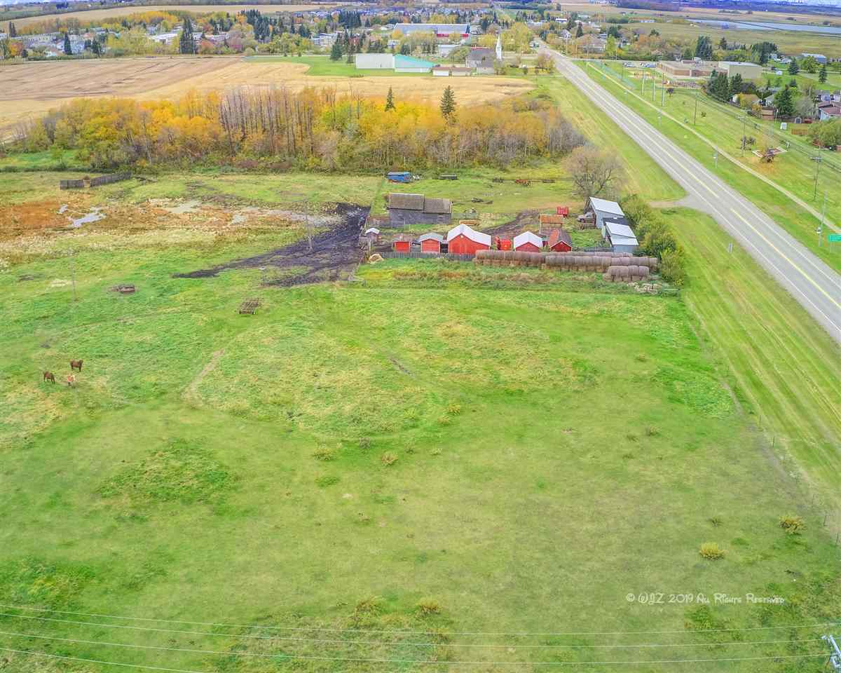Fantastic 3.025 acre lot fronting Hiway 45 in the Town of Bruderheim.  An adjoining parcel with 4.5l acres of land is available.  (E4195867).Super investment in commerical land in the Town.