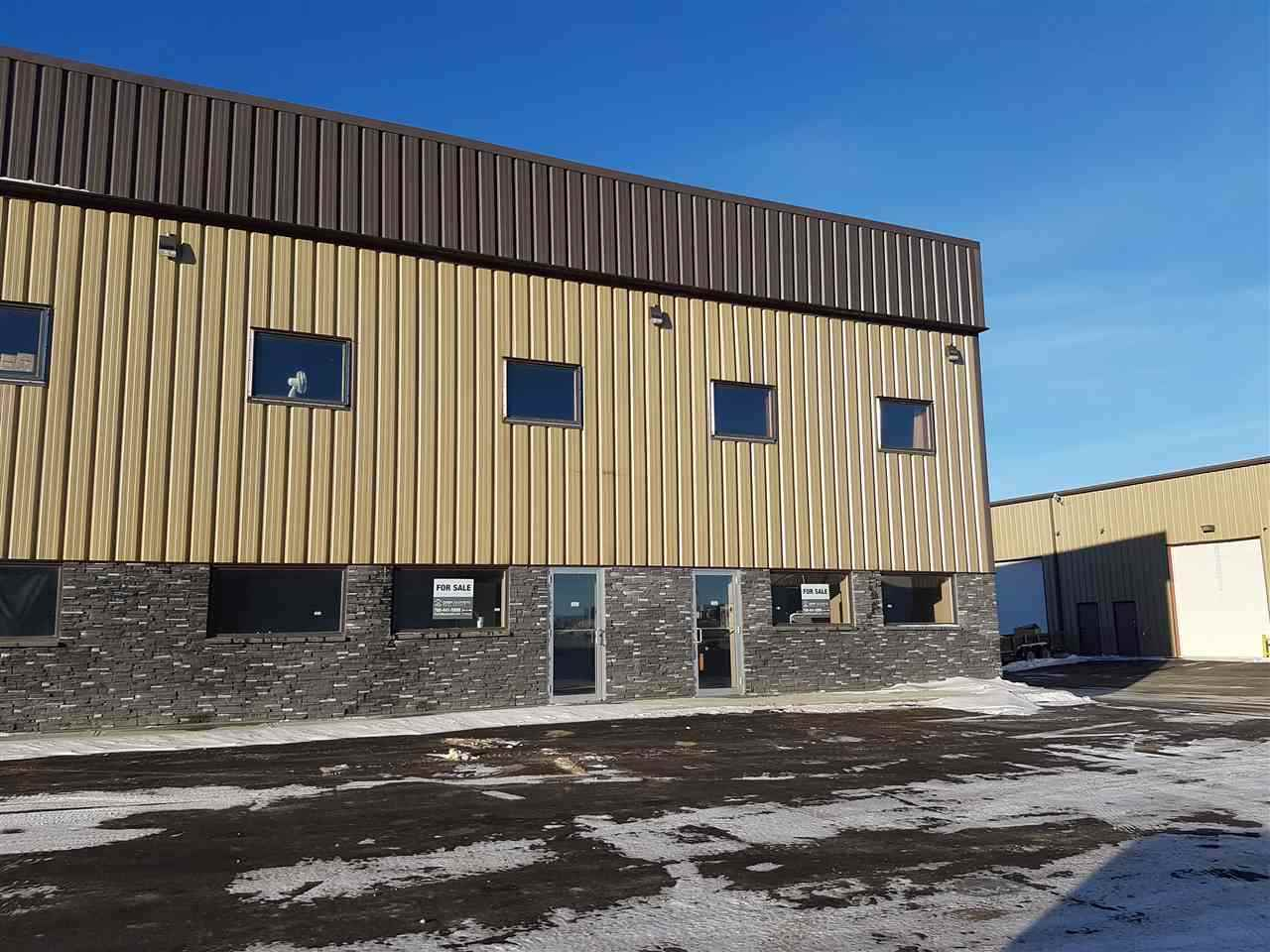FOR SALE - FOR LEASE   Side by Side  Office/Warehouse bays with Mezzanine available immediately. Double wide open unit with unfinished Mezzanine in place .  Features 2 - 12' x 14' Doors, 2 Radiant Heaters, sump , 21' free clear ceilings, 2- 225 amp 3 phase power .  Great street view, lots of parking  and endless opportunities