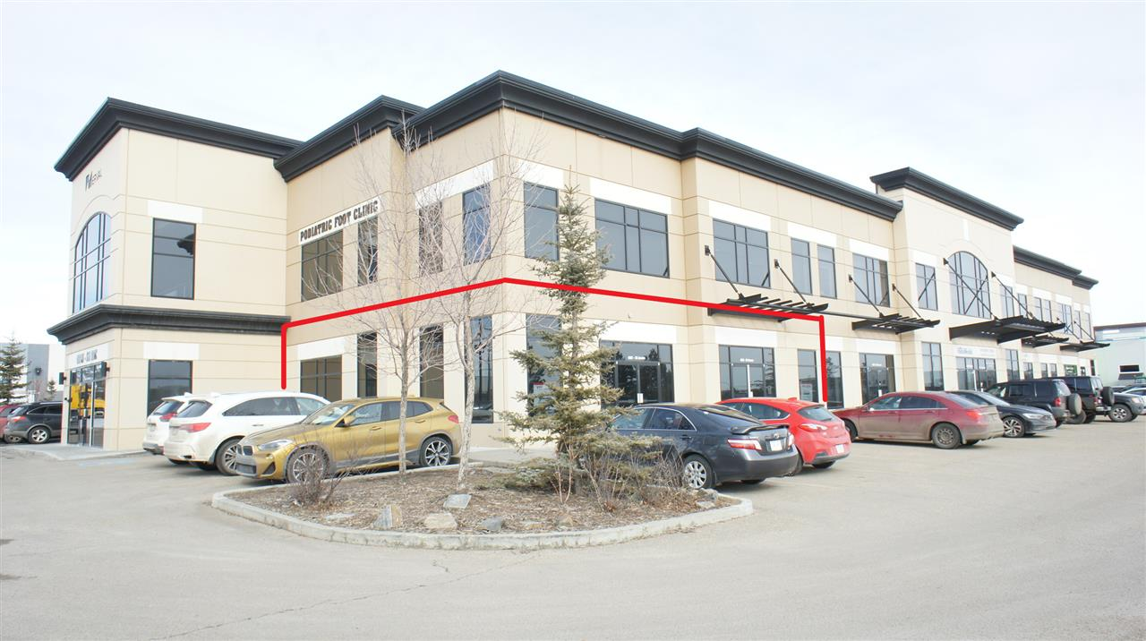 2238 SF main floor end cap space facing south towards the Whitemud Freeway.  Great exposure along 50 Street.  Attractive tilt up concrete building with ample parking. Excellent location and space and for retail or office users.