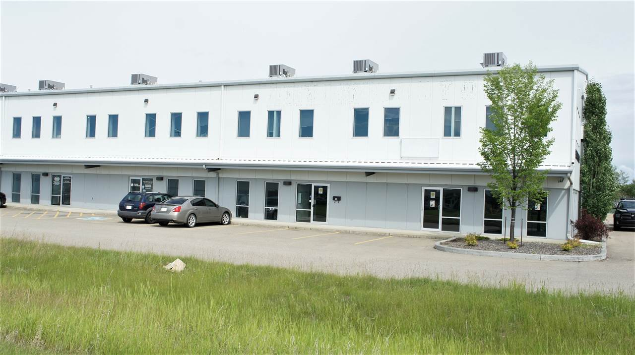+/- 5435 SF end cap unit in Altaland Business Park featuring 2240 SF of higher end finishing in the executive offices and showroom areas and 3195 SF of warehouse space.  Pitched ceilings in warehouse offering 22' - 30' ceilings in warehouse, radiant heating, 3 - 12'x14' grade loading doors and 3 phase power.  400 Sf of load bearing storage mezzanine in 3rd bay not included in size.  Up to 15,000 SF of fenced yard available for lease in conjunction with this space.