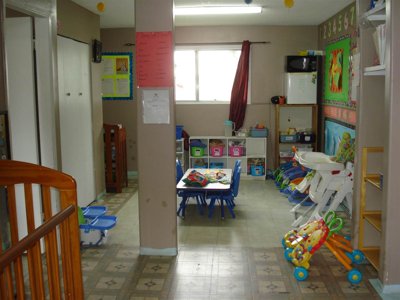 This Just under <50  Chlidren Capacity Daycare Centre is running FULL Enrolment plus waiting Lists for all age groups.This Centre has The reputation of a Great childcare provider in this community for a Long Long time. The Toddler Room License 12 Staff 2, Baby Room License 8 Staff 2, Pre-Schoolers License 13 Staff 2 and OSC Room Lic 10 Staff 1. Also, a Program Director's Office, Kitchen, 4 Bathrooms, Storage and and a Park like Exterior Play area with full placement of slides and other activity tools. Fully Licensed and Accredited for many years. Staff are all with complete ECE credentials, First aid CPR and Food Handler Courses. A Long TERM competetive Lease is available to be transfered. High Income lower Expenses means a good Net monthly Income and return on your investment and hard work. Very Good Price of $249,000.