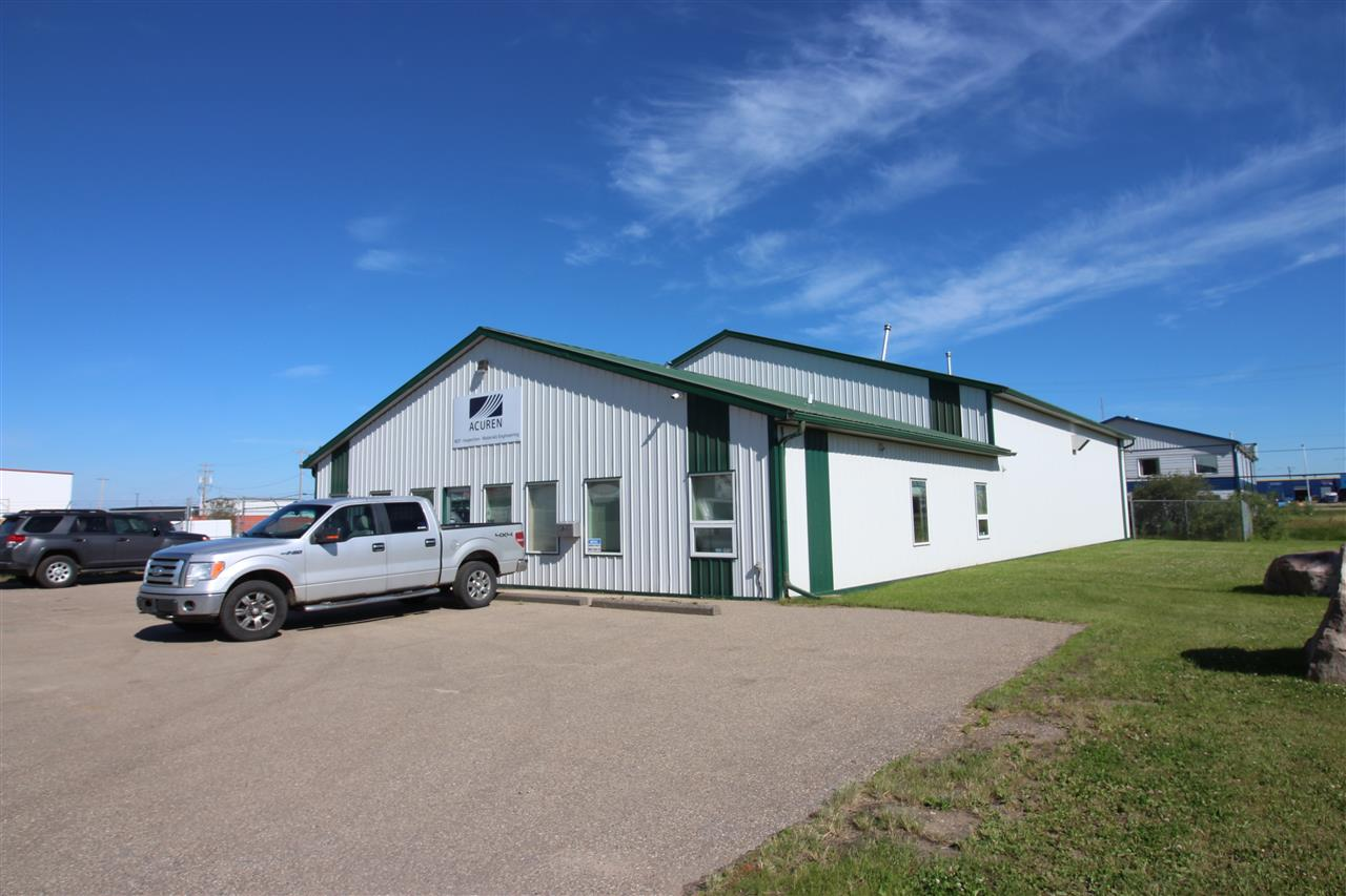Prime commercial/light industrial building in an excellent location just a block from Highway 28. This 6200 sq.ft. building conforms to most operations. It consists of 2000 sq.ft. of office and administration. Featuring reception area, 3 spacious offices, board room, 3pce bathroom and storage. Shop is 60x70 4200sq.ft. Featuring a parts room, washroom and mezzanine area. 3 overhead doors 14' height. Radiant heat in shop and forced air in offices along with central A/C. Concrete apron along shop doors, site is fenced and provides ample parking. Paved driveway on front side off building. Well constructed and quality finishing throughout the building. This could very well be the perfect fit for your business....come have a look!