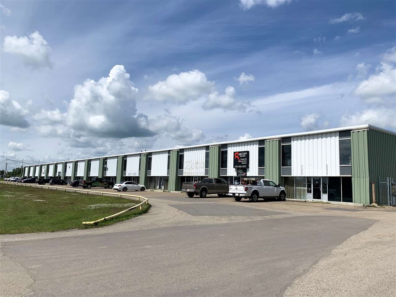 3,360 sq.ft. 6720sqft, and 10,080 sq.ft. with yard available for lease ? Double row parking on site ? Large marshaling area behind building with pockets of yard (approx 35?x110?) ? IND Industrial zoning ? Easy access to Airport Road, Highway 2, and Highway 625 18? Clear ceilings, 12 X 14 Grade level overhead door, sumps in each bay - Bays have bonus storage mezzanine available Net lease rate of $8.50/sqft with $2.50/sqft operating costs