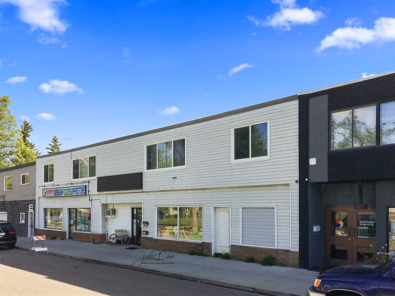 ? Opportunity to purchase a � 5,150 square foot commercial property situated on � 0.17 acres of commercially zoned land. ? The building features � 2,950 square feet of main floor space with a second floor of � 2,200 square feet. ? Surrounded by residential houses in an established neighbourhood. Ideally situated close to all amenities and minutes from Whyte Avenue and 75 Street. ? The subject property is the last remaining building on the block of redeveloped commercial properties, creating an excellent upside to the purchase. ? Entry level price point into ownership with rental income potential from residential suites on site.
