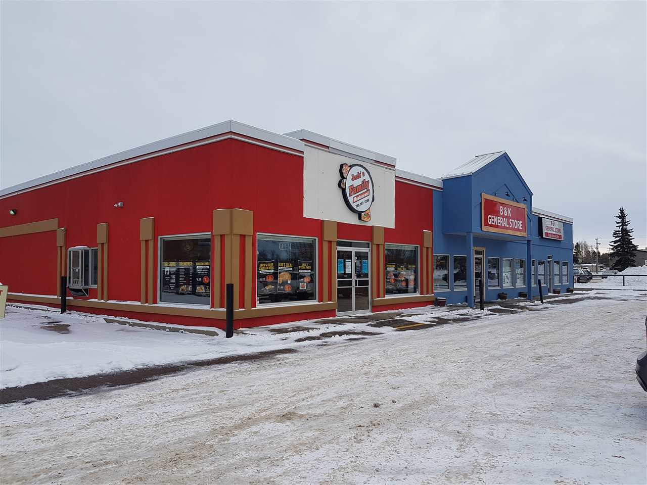 DRIVE-THRU FAMILY RESTAURANT in busy strip mall beside Highway 60 in Devon.  Adjacent to Dairy Queen and A & W.  Easy highway access.  Fully fixtured. Extensive newer equipment. Hood fan, fryer, ventilation, drive-thru.  Attractive Lease.  Ideal for family restaurant, burger, pizza, etc.